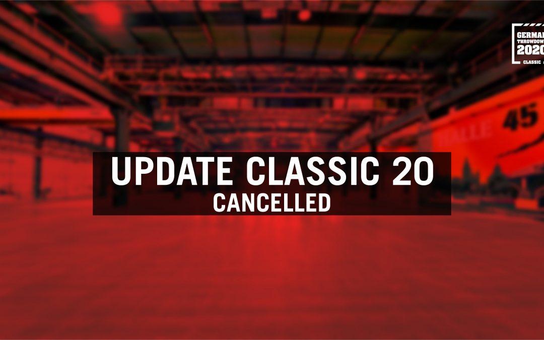 German Throwdown Classic 2020 ist abgesagt