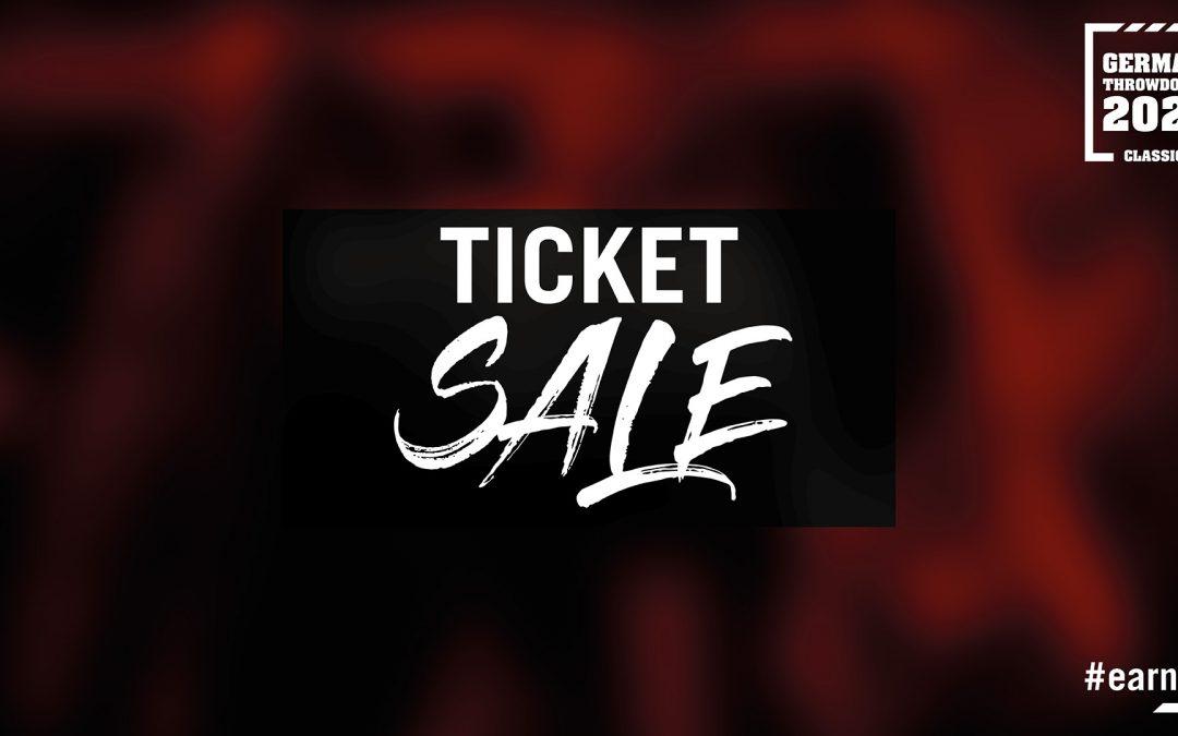 Ticket Sale German Throwdown starts Sunday Oct 17th