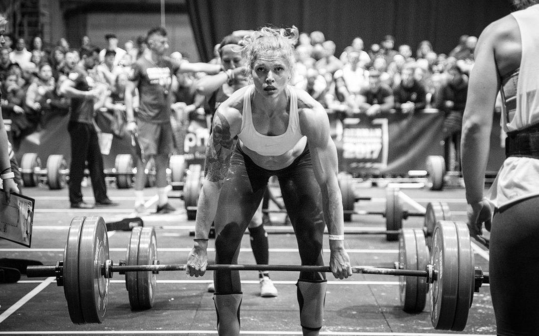 Female Athlete Deadlifts at German Throwdown 2018